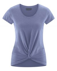 Dames yoga hennep shirt knoop lavender
